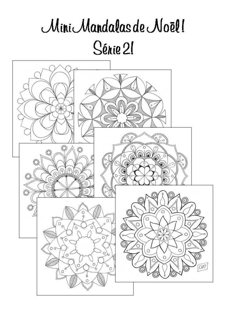 Un Mandala Par Jour | Coloriage Magique Noel, Coloriage destiné Mandala Cm2
