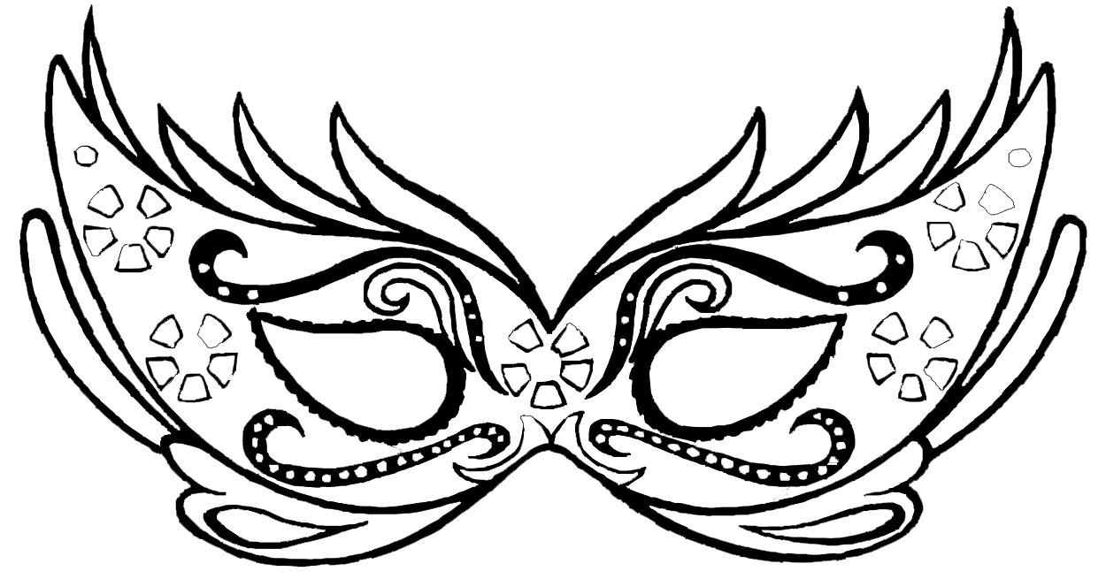 Un Masque De Carnaval À Colorier - Family Sphere - Garde D serapportantà Masque D Animaux À Colorier