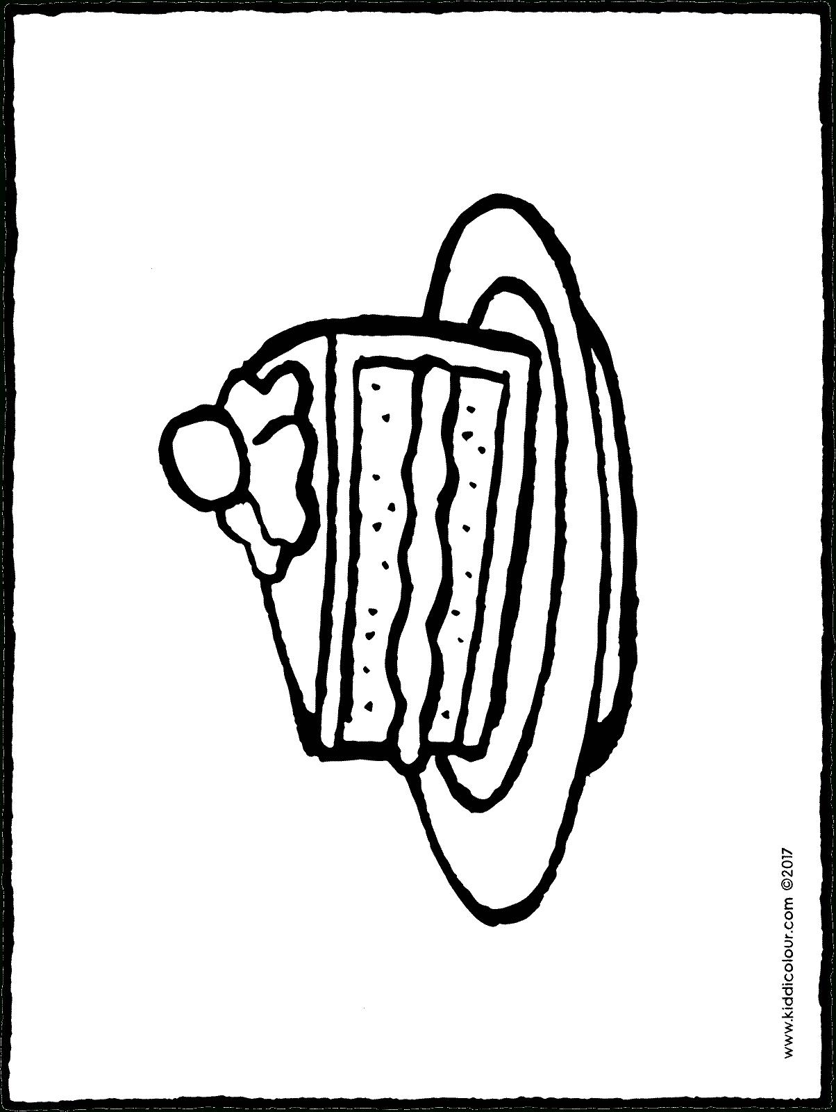 Une Part De Gâteau - Kiddicoloriage concernant Dessin Sur Gateau