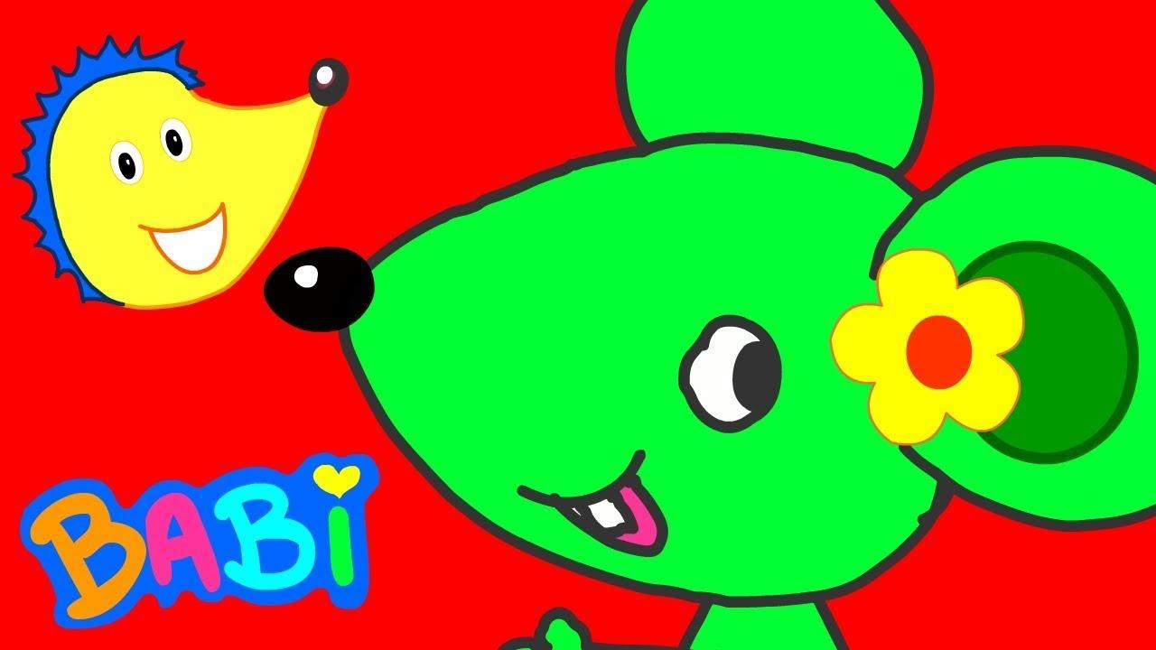 Une Souris Verte - Chanson Et Comptine Enfants - Babi, Le destiné Une Souri Vert