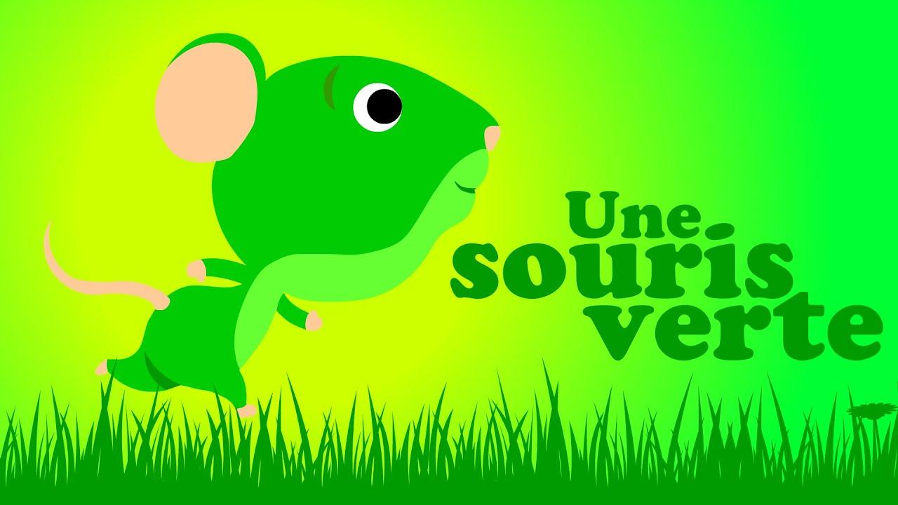 Une Souris Verte Comptine Pour Bébé & Comptine Maternelle avec Une Souri Vert