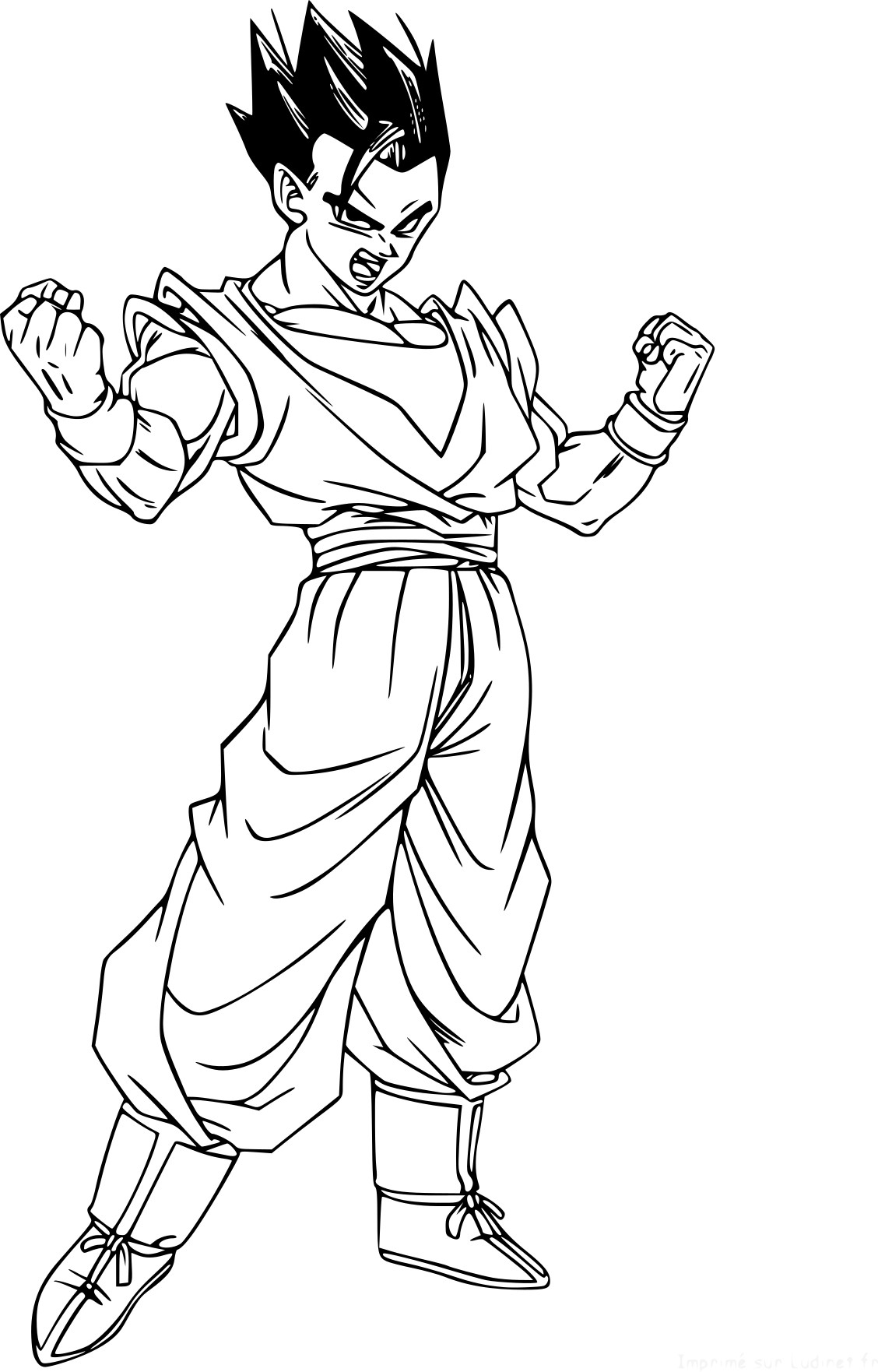 Unique Coloriage A Imprimer Dragon Ball Z Sangohan concernant Coloriage Dragon Ball Z Sangoku