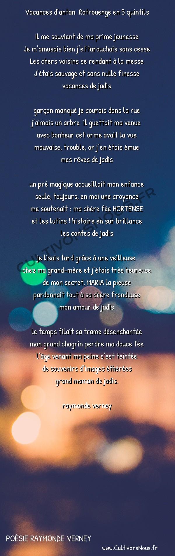 Vacances D'antan Rotrouenge En 5 Quintils - Poésie destiné Vacances Poesie
