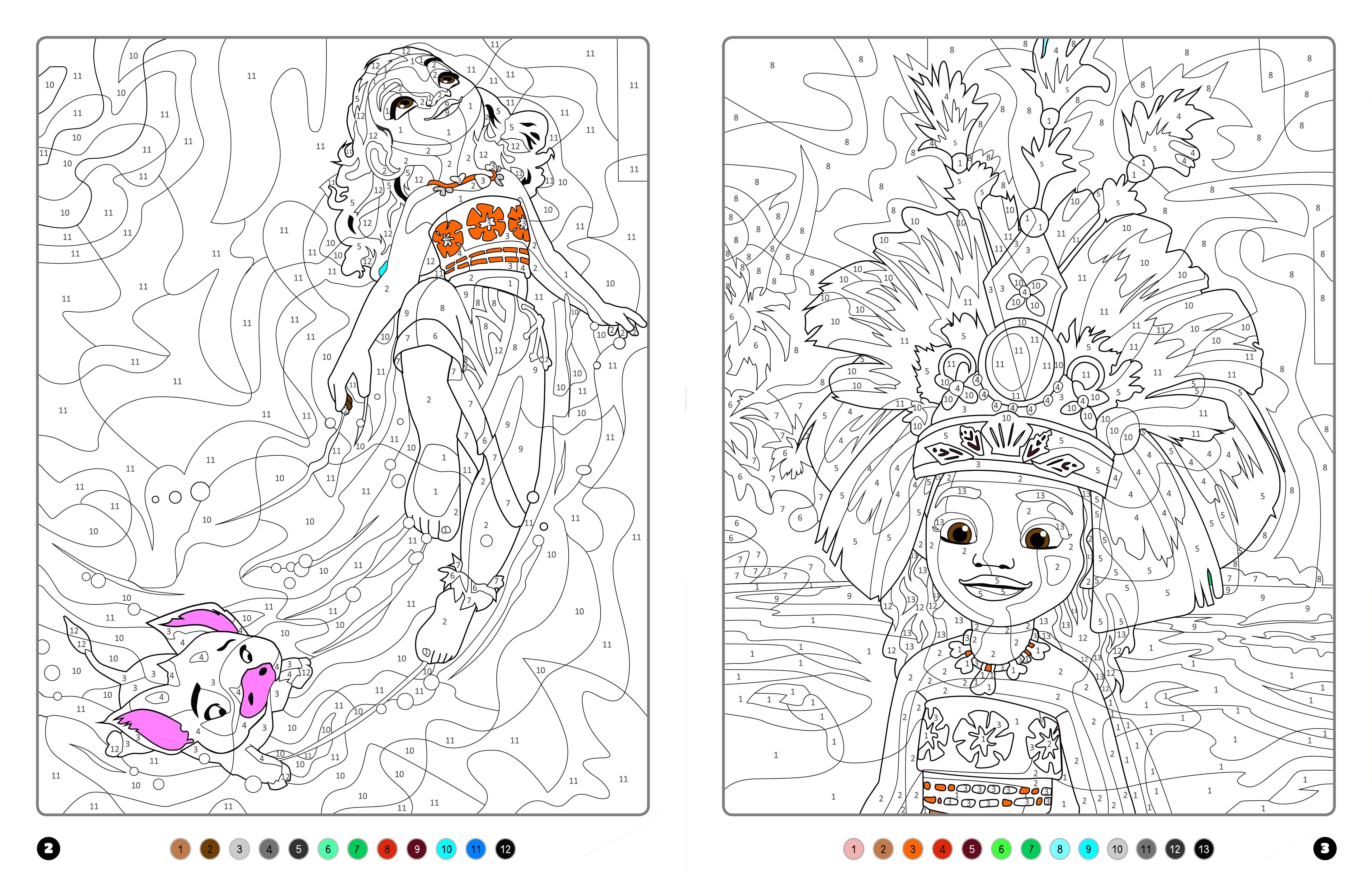 Vaiana – Coloriages Magiques – Mystères – Disney | Hachette.fr serapportantà Coloriages Mystères Disney