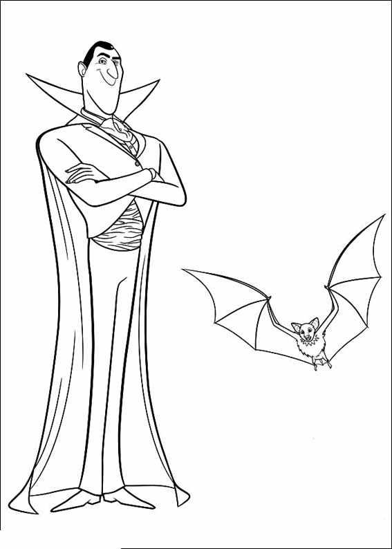 Vampires 3 - Coloriages De Vampires (Twilight, Dracula à Coloriage Hotel Transylvanie A Imprimer