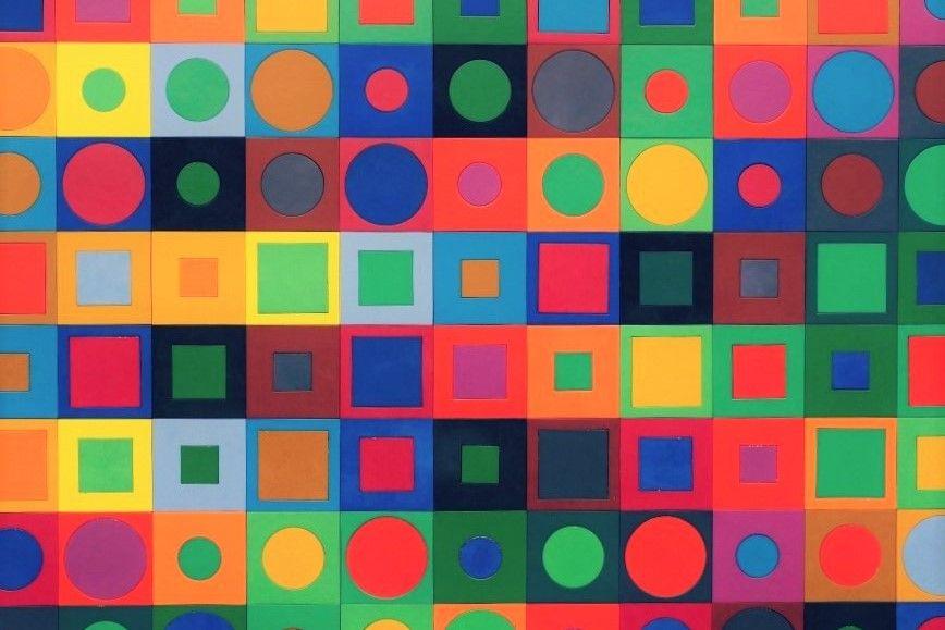 Vasarely En 10 Œuvres | Vasarély, Époque Géométrique Et tout Damier À Imprimer