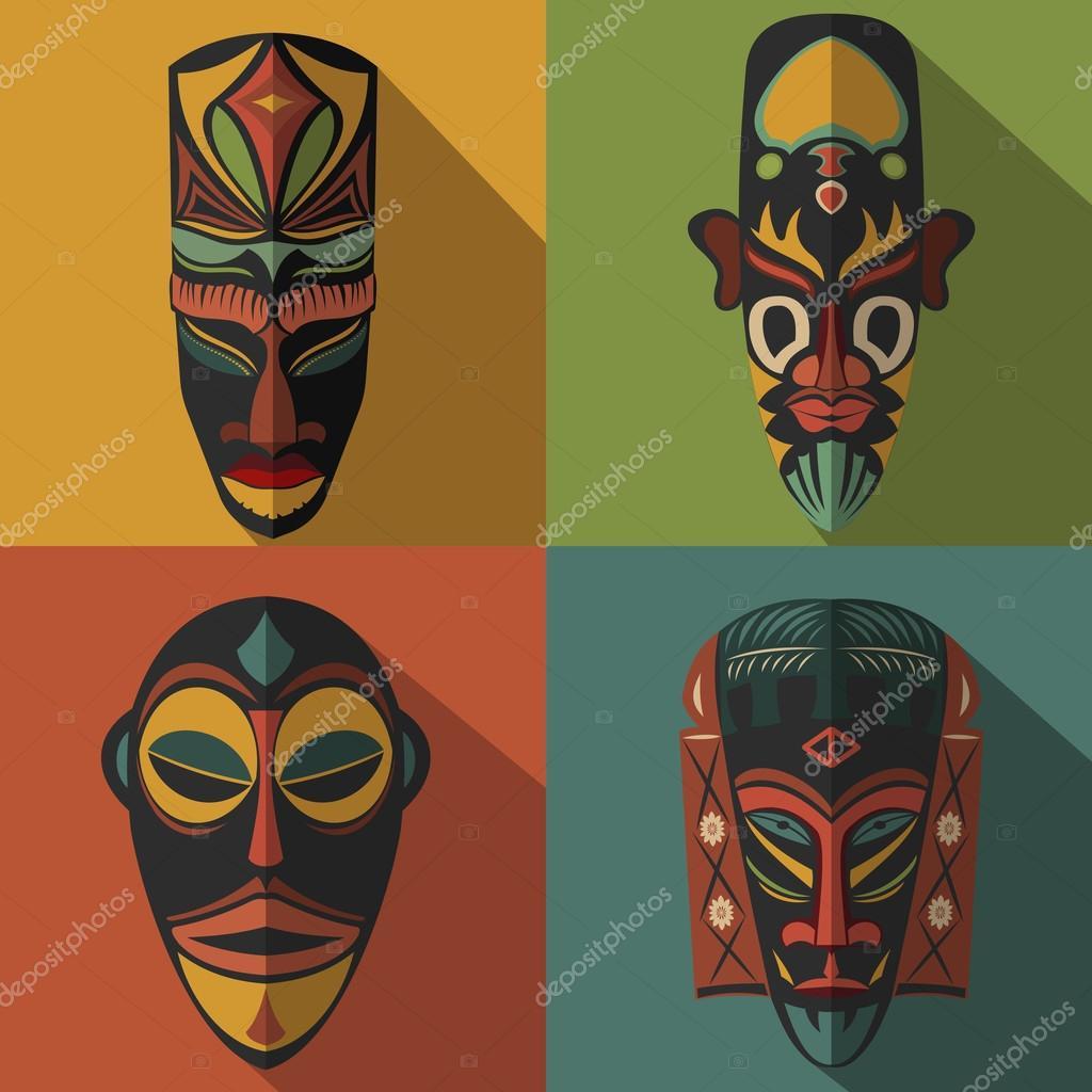 Vecteur Tribus Africaines Motif Homogène Avec Symbole D pour Dessin Masque Africain