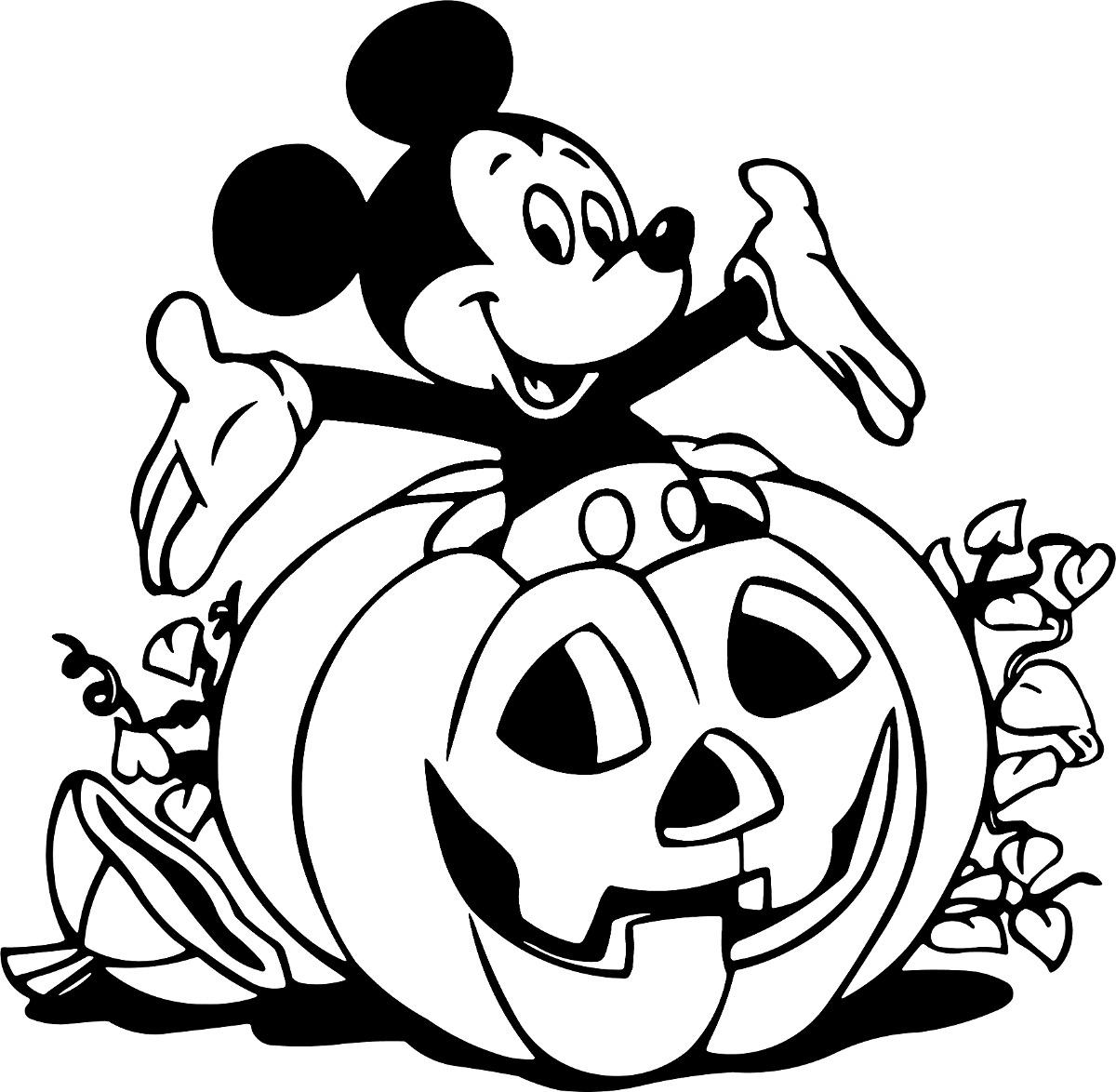Vinilo Decorativo Mickey Halloween - $ 18.000 En Mercado Libre encequiconcerne Coloriage Mickey A Imprimer