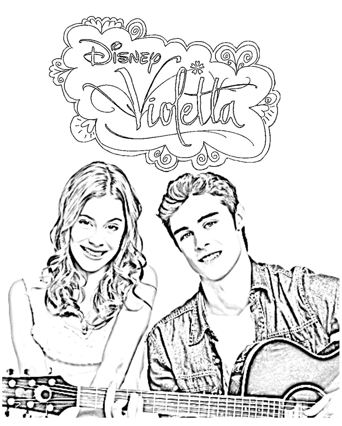 Violetta Thomas Ami - Coloriage Violetta - Coloriages Pour intérieur Dessin Violetta A Colorier
