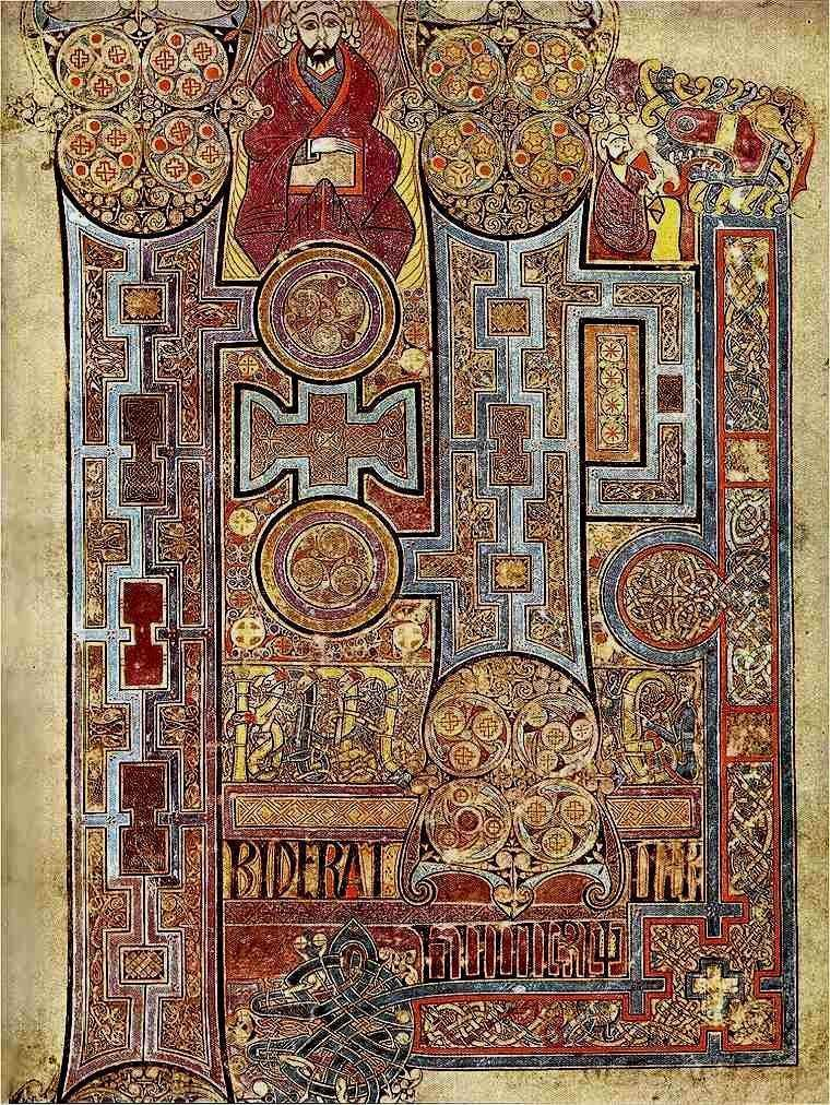 Visiting The Book Of Kells At Trinity College Library, Dublin destiné Script In The Book Of Kells