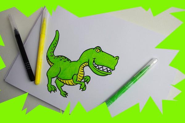 Voici Une Méthode Pour Dessiner Un T-Rex Facilement Et à Comment Dessiner Un Dinosaure