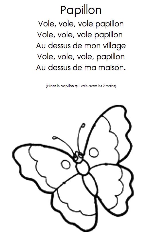 Vole Papillon - École Maternelle La Trébillane À Cabriès avec Comptine Papillon