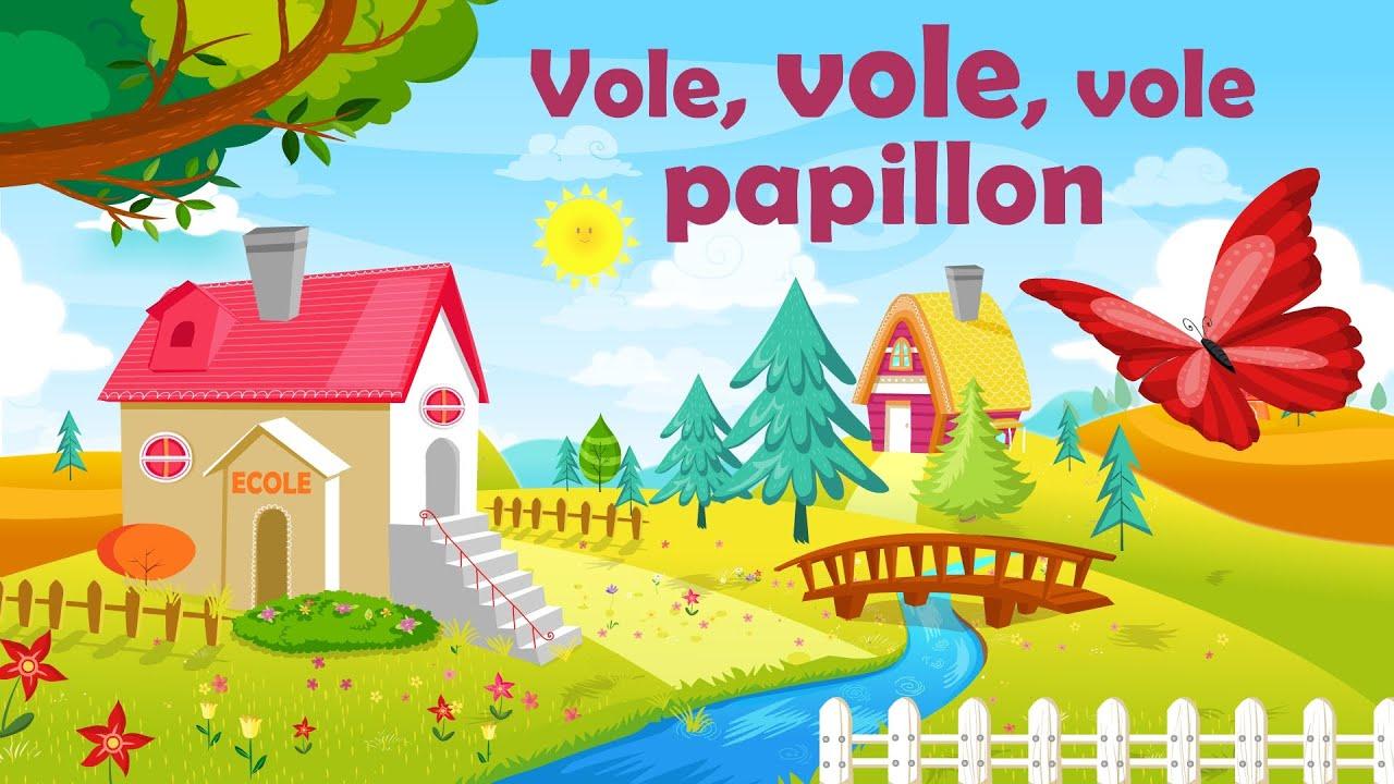 Vole, Vole, Vole Papillon - Comptine Avec Gestes Pour tout Les Chanson Pour Les Bébé