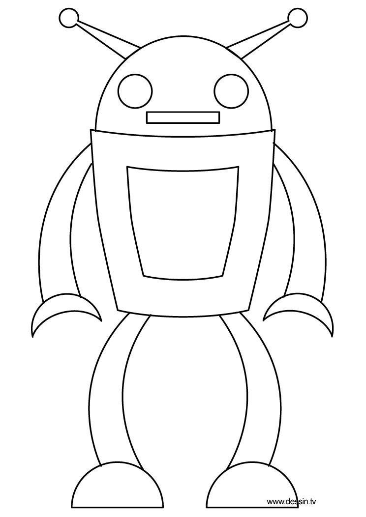 Vrac Coloriage Robot serapportantà Dessin Robot À Imprimer