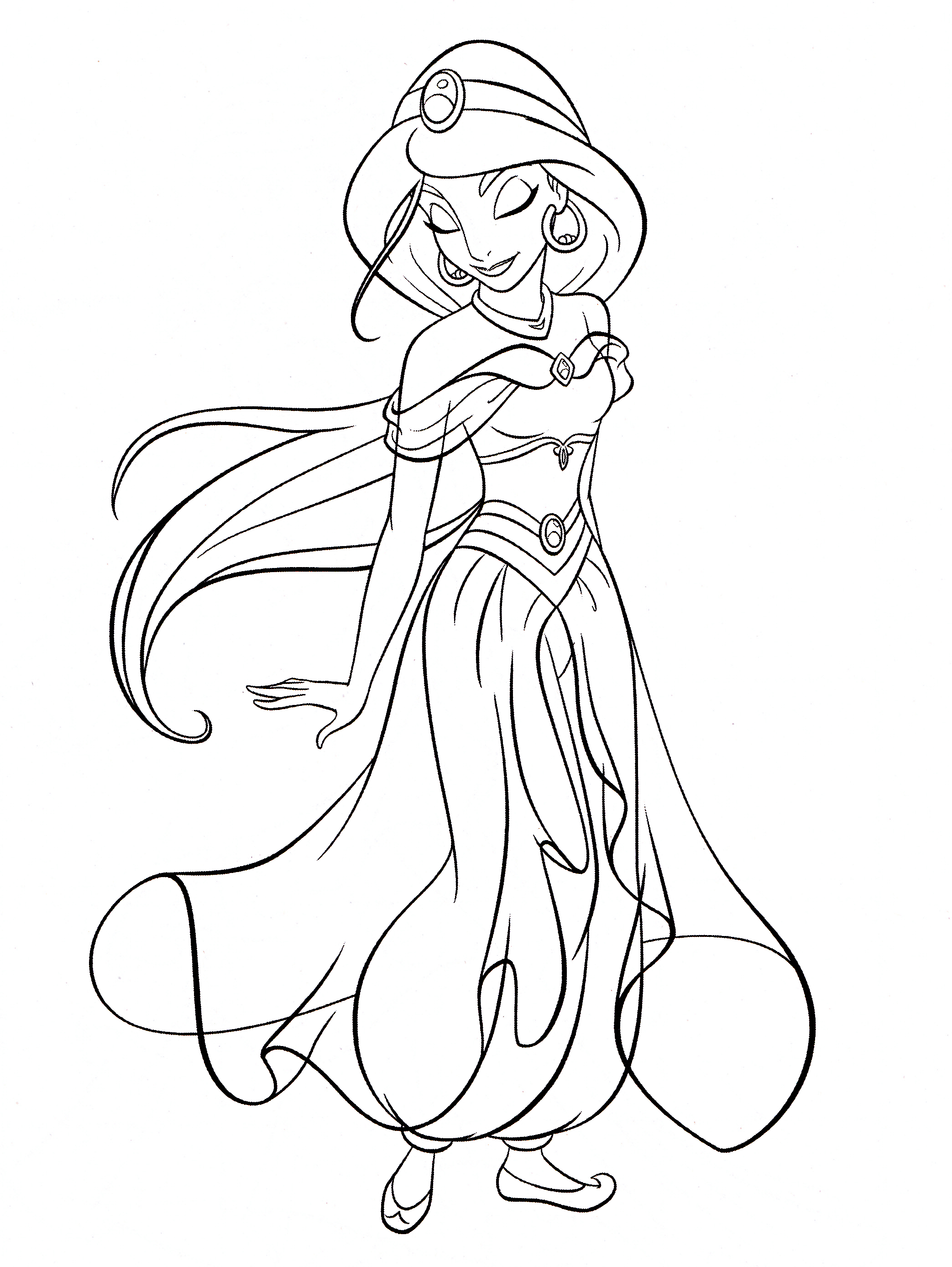Walt Disney Coloring Pages - Princess Jasmine | Disney avec Coloriage Disney