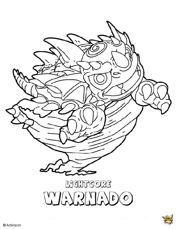 Warnado Est Un Coloriage De Skylanders intérieur Coloriage De Skylanders Giants