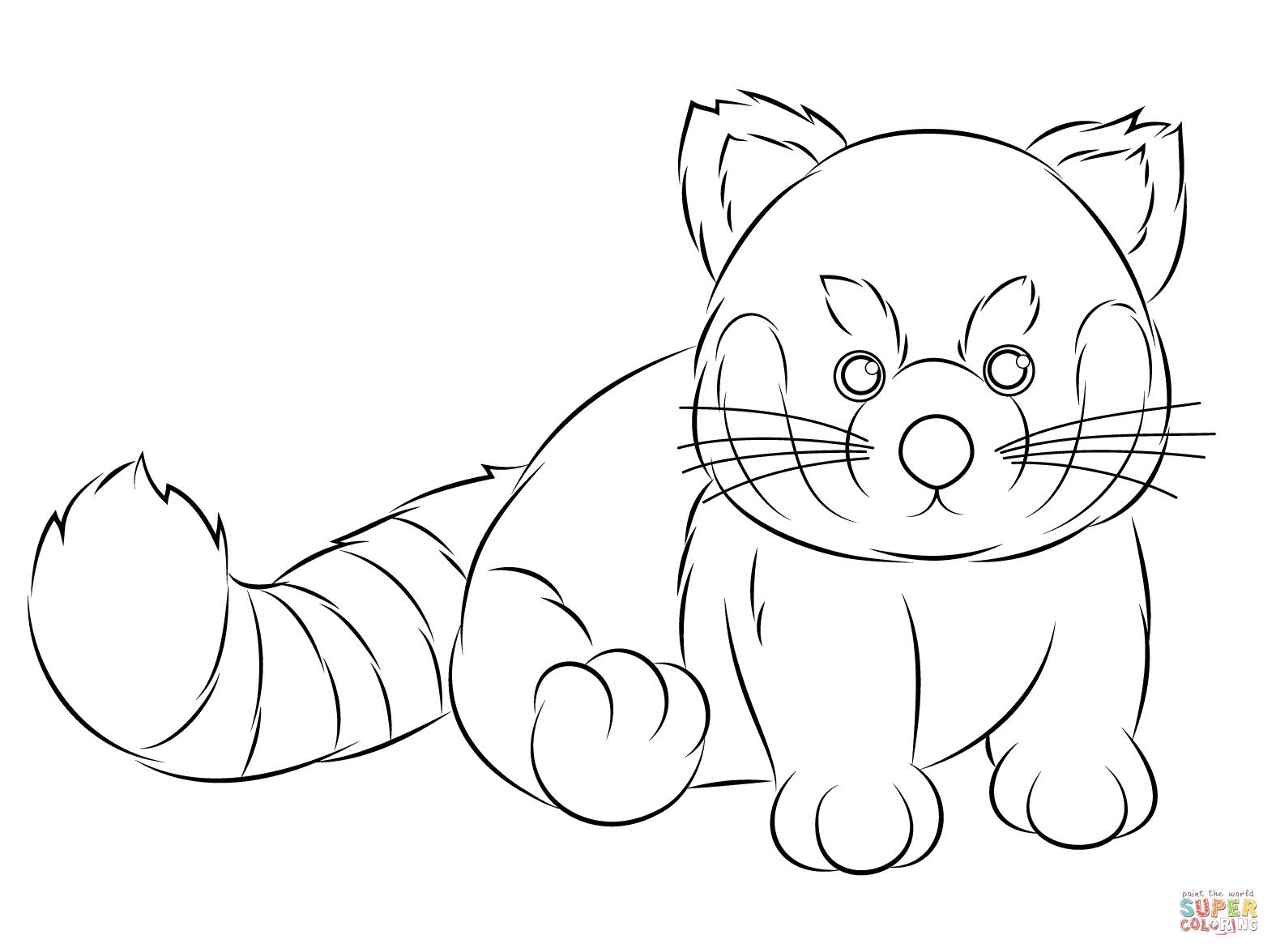 Webkinz Red Panda Coloring Page | Free Printable Coloring intérieur Panda A Colorier