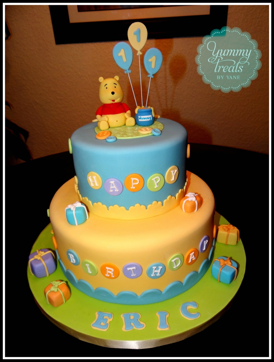 Winnie The Pooh First Birthday! - Cakecentral avec Pooh Gateau