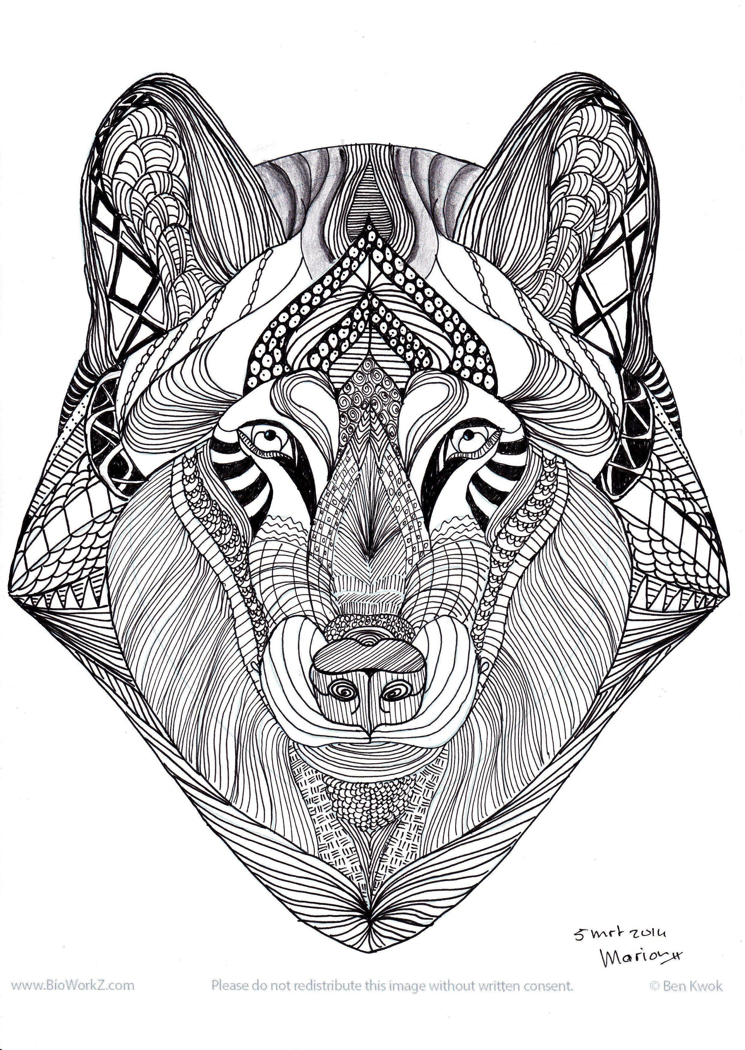 Wolf (Ben Kwok) Heerlijk Allerlei Lijntjes Trekken à Coloriage Guepard Et Dessin Imprimer