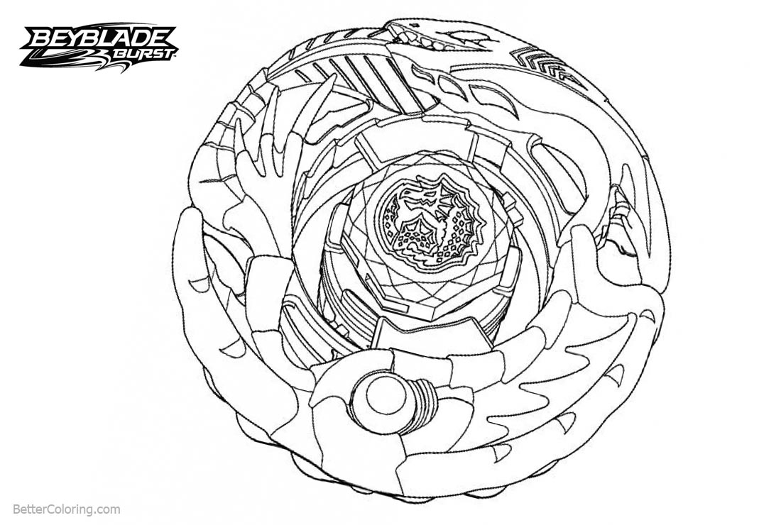 Xcalius Beyblade Burst Turbo Coloring Pages destiné Coloriage Beyblade Burst Turbo