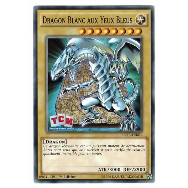 "Yu-Gi-Oh - ""Dragon Blanc Aux Yeux Bleus"" Ldk2-Frk01 serapportantà Coloriage Yu Gi Oh Dragon Blanc Aux Yeux Bleus"