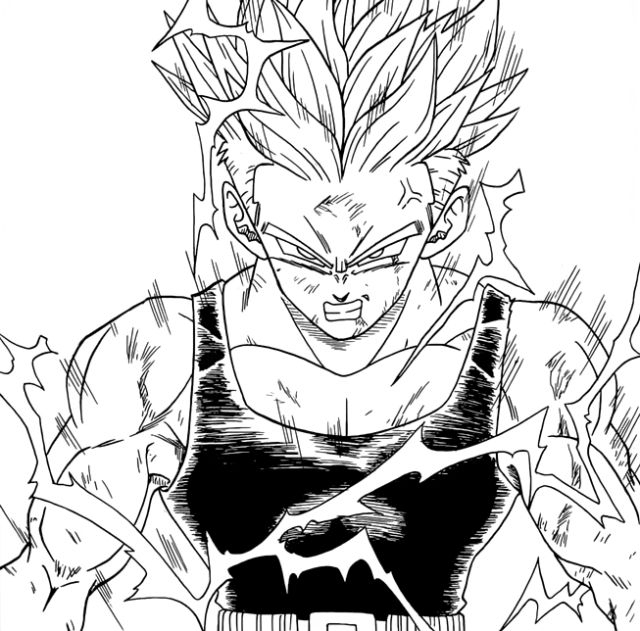 Zamasu Ripping His Shirt By Iitheyahikodarkii : Dbz avec Coloriage Trunks Du Futur