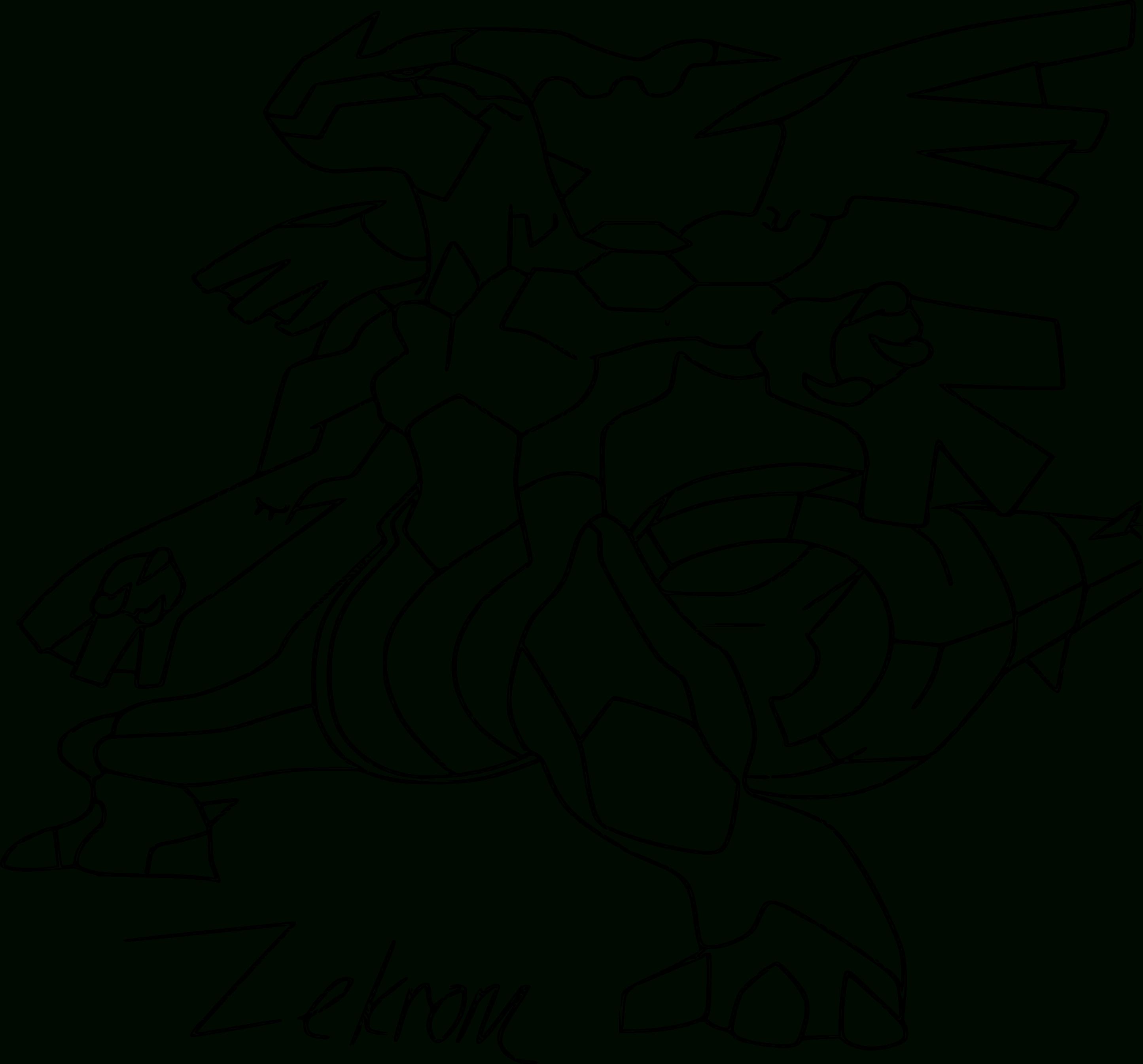 Zekrom : Coloriage Du Pokemon Zekrom À Imprimer Et Colorier intérieur Coloriage Pok?Mon
