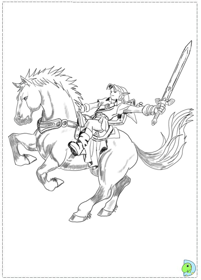 Zelda And Link To Print Coloring Pages Coloring Pages avec Coloriage Zelda Breath Of The Wild