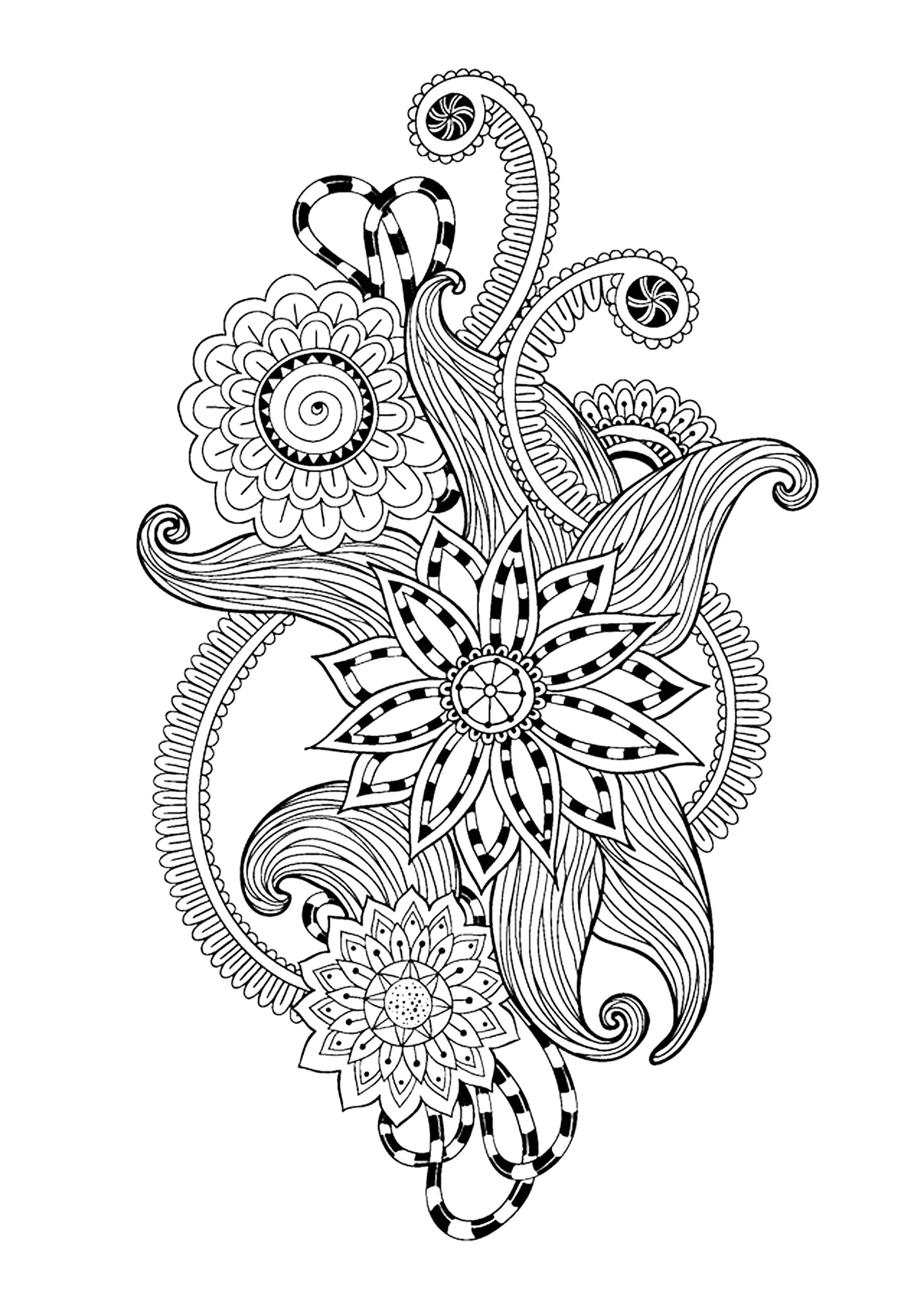Zen Antistress Abstract Pattern Inspired - Zen And Anti destiné Coloriage Adulte Anti Stress