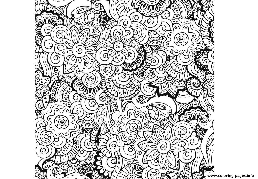 Zen Antistress Free Adult 23 Coloring Pages Printable concernant Coloriage Adulte Anti Stress