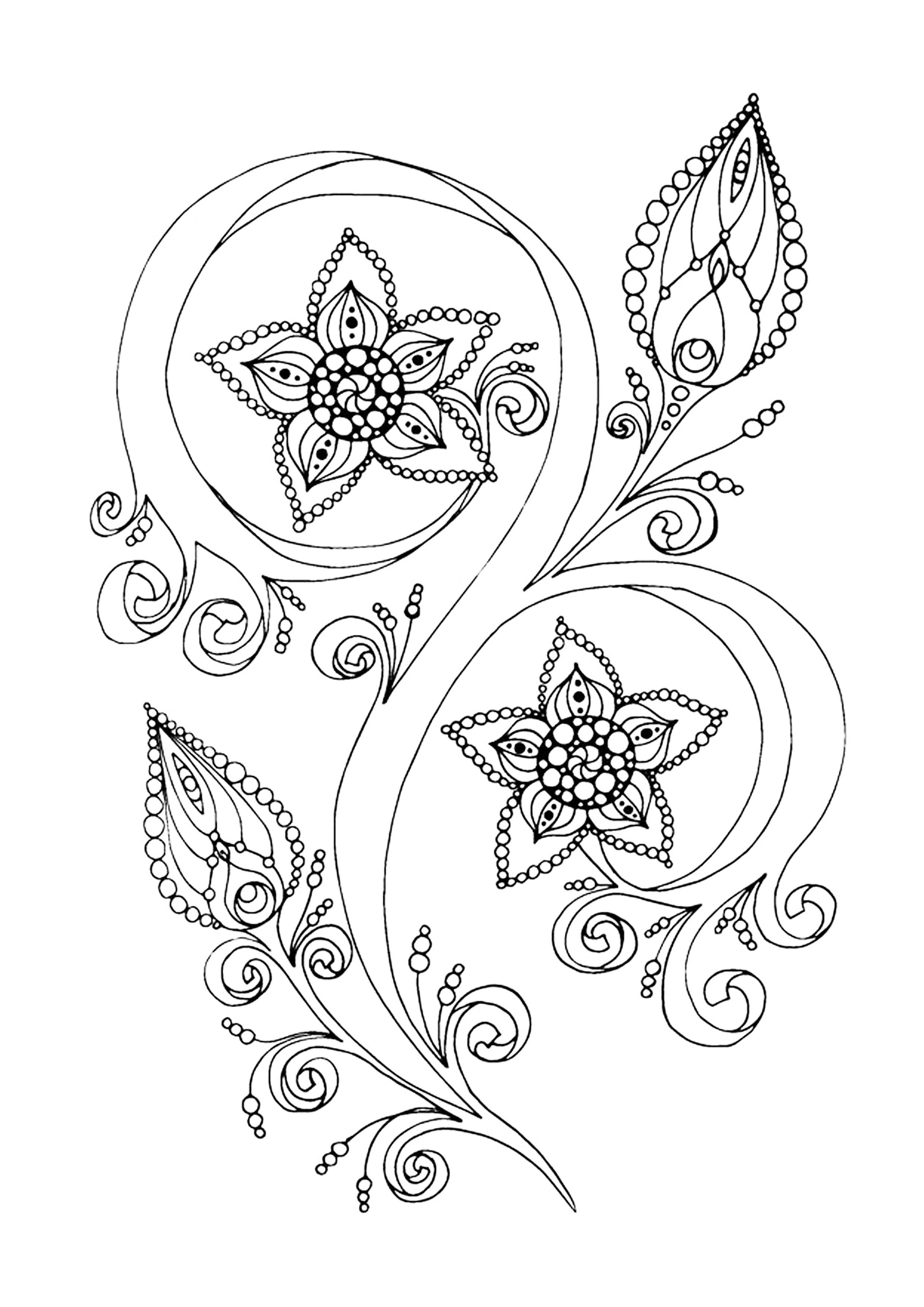 Zen Antistress Motif Abstrait Inspiration Florale 13 Par encequiconcerne Coloriage Adulte Anti Stress