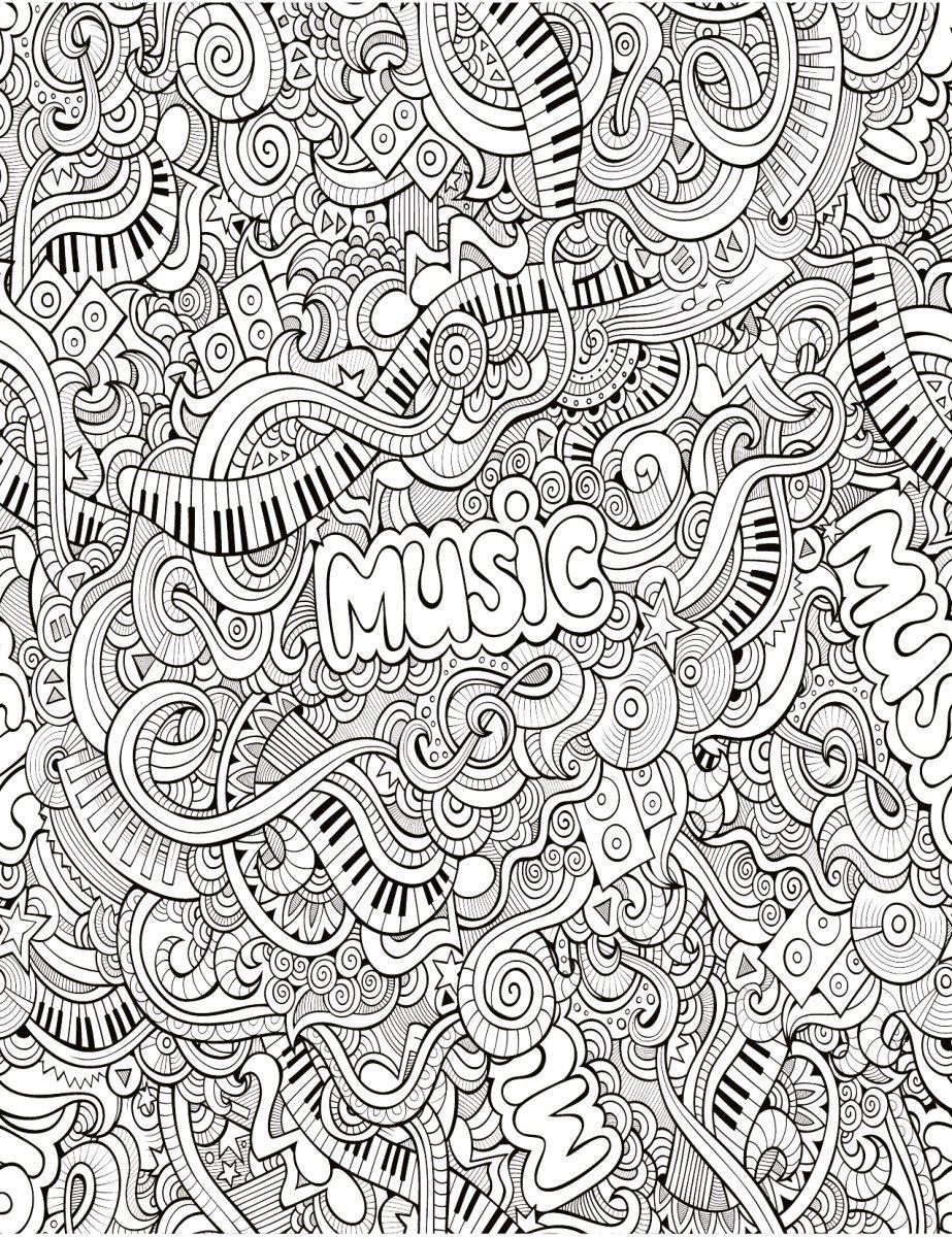 Zendoodle Très Difficile Musique À Imprimer | Dessins Sur pour Coloriage De Mandala Difficile A Imprimer