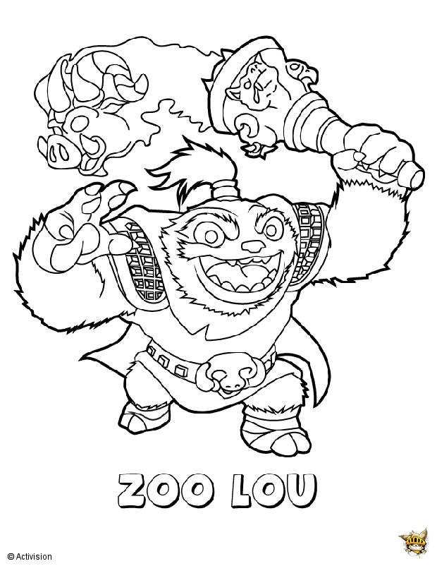 Zoolou Est Un Coloriage De Skylanders avec Coloriage Skylanders Trap Team A Imprimer Gratuit