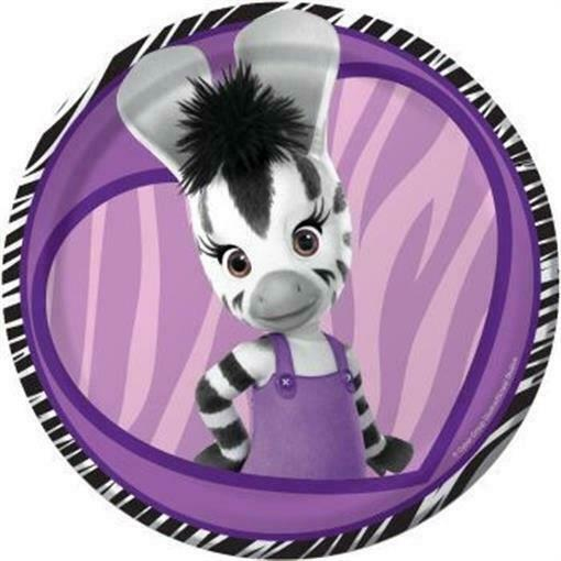 """Zou Elzee 7"""" Paper Plate 8 Pack Kids Birthday Party pour Image Elzee"""